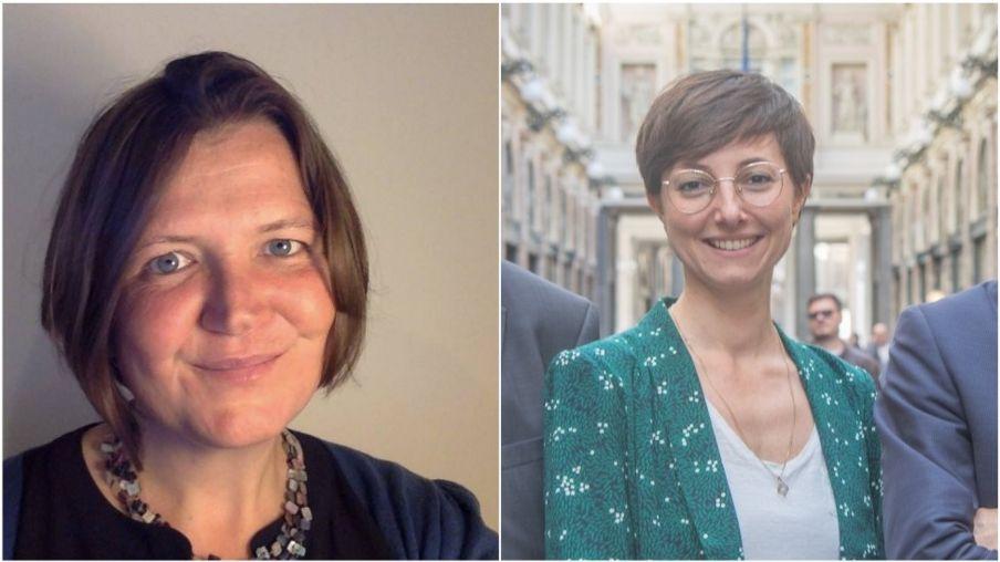 Nghị sĩ Ellie Chowns (trái) và Saskia Brichmont