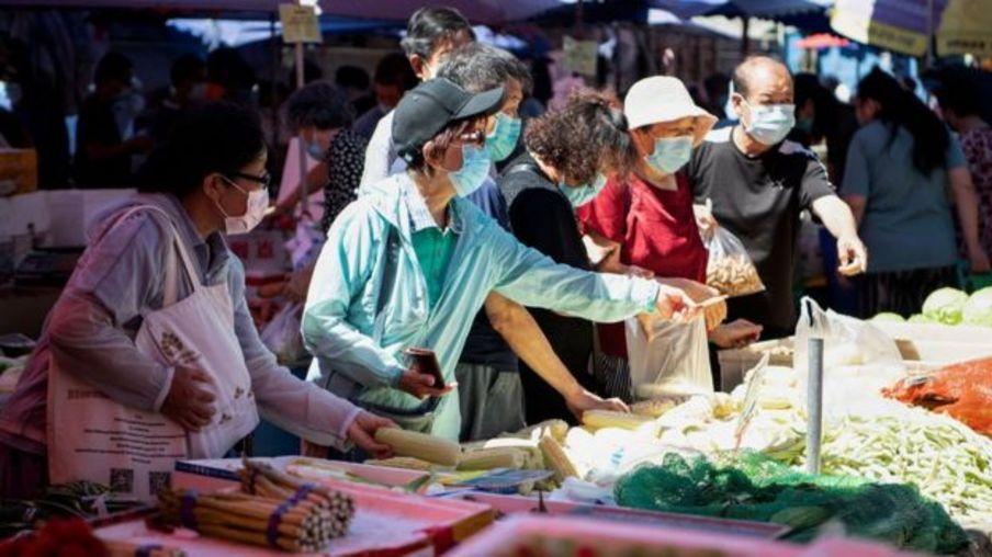 Một chợ bán đồ tươi sống ở Trung Quốc