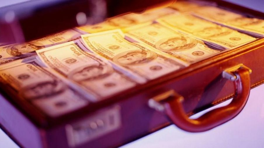 Briefcase full of dollars
