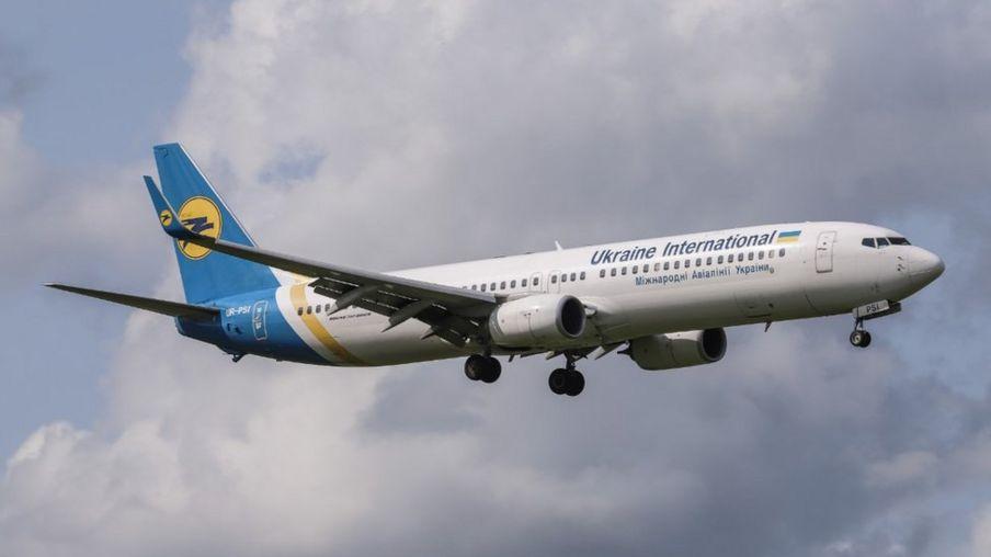 The Ukraine International Airlines plane