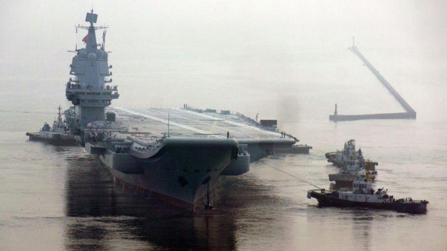 Tàu sân bay tự sản xuất đầu tiên của Trung Quốc. Ảnh chụp năm 2018