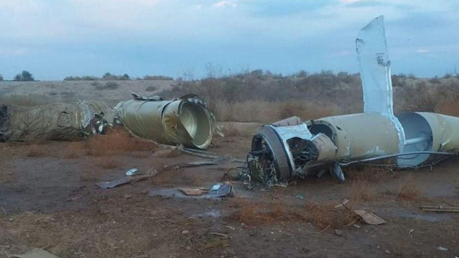 Remains of Iranian missile near al-Baghdadi town - 8 January