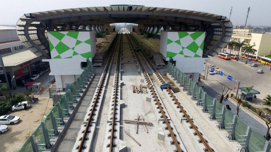 Dự án Đường sắt đô thị Hà Nội, tuyến Cát Linh - Hà Đông ảnh năm 2017