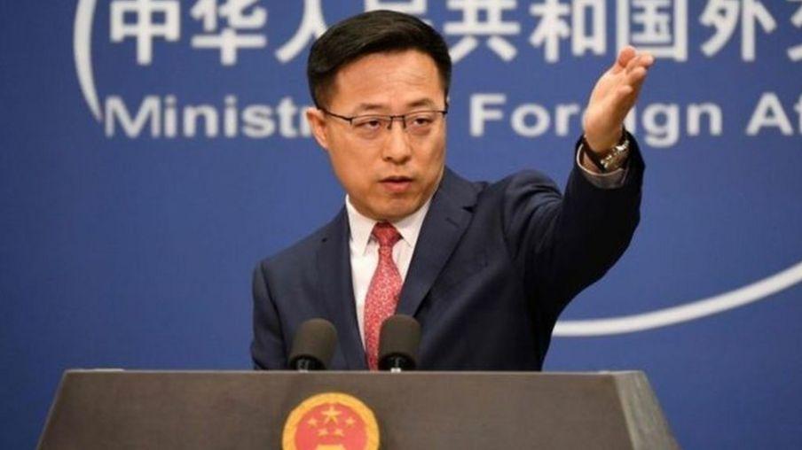 Triệu Lập Kiên, người phát ngôn Bộ Ngoại giao TQ, nói rằng Mỹ đã mang virus corona vào TQ