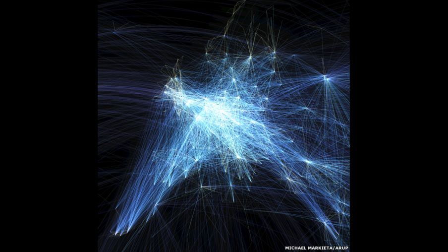 In pictures: Global flight paths