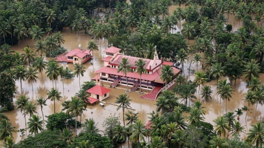 a flooded school