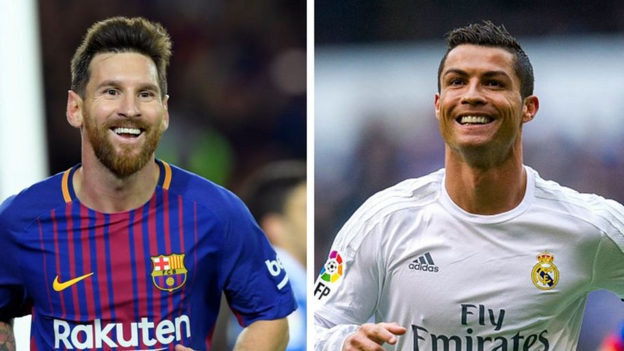 timeless design 53e90 8db8c Ronaldo v Messi: Who's the best player? - CBBC Newsround