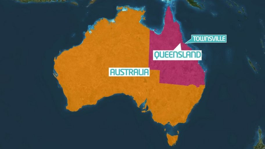 Map Of Australia Highlighting Queensland.Australia Floods People Warned About Crocodiles And Snakes In Water