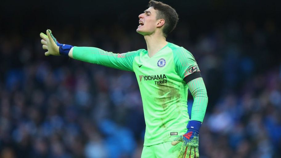 big sale 7b3d5 26035 Chelsea v Man City: Keeper Kepa refuses to be substituted ...