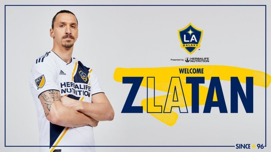 on sale fa98a 51f51 Zlatan Ibrahimovic joins LA Galaxy: 'You're welcome!' - CBBC ...