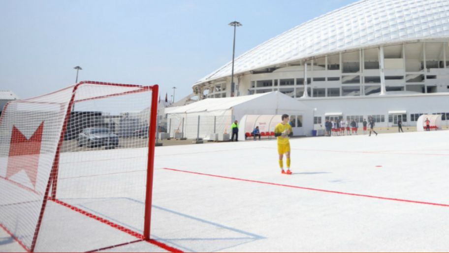 campo calcio plastica Sochi