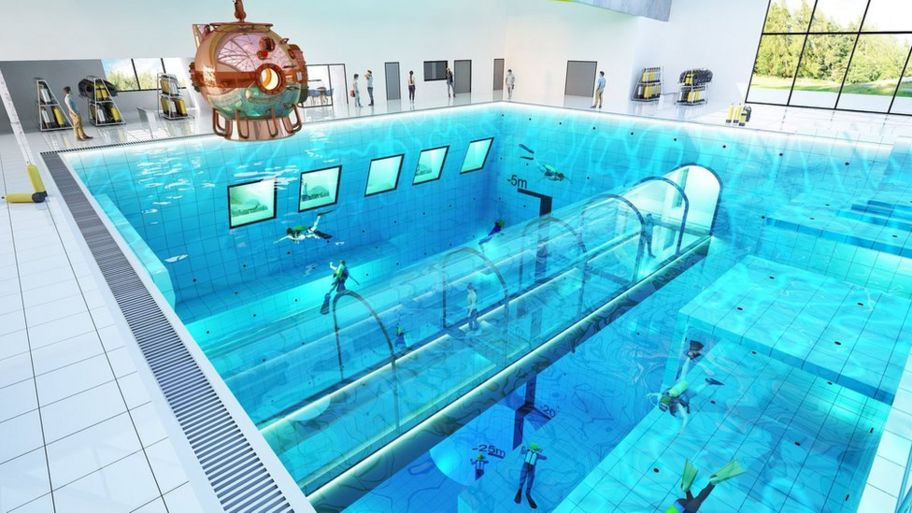 Would you swim in this 45m-deep swimming pool in Poland ...