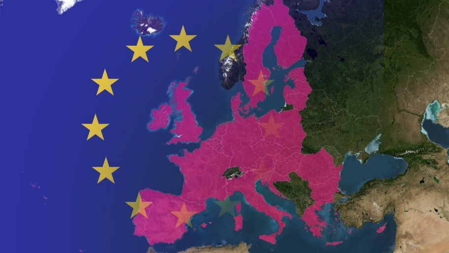 could a second scottish independence referendum be on the cards  map showing the eu
