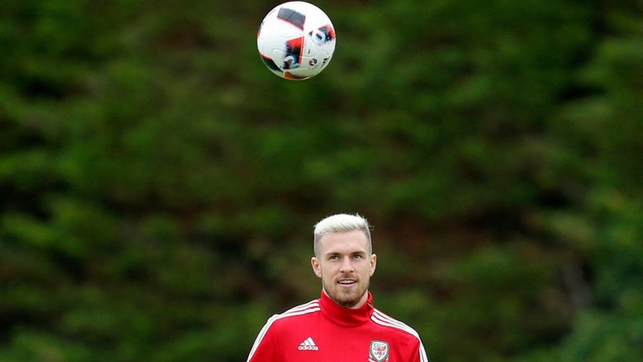 de9ddae7f48d68 Wales  Aaron Ramsey during training Reuters. Wales  Aaron Ramsey joins Antoine  Griezmann in the Euros team of the tournament
