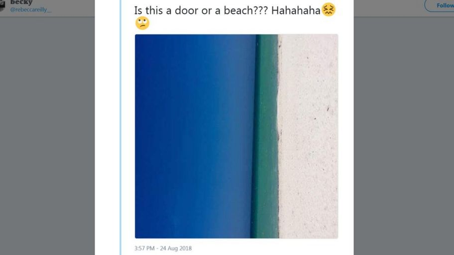 An Optical Illusion Which Has Got People Deciding Whether It Is A Beach Or  A Door