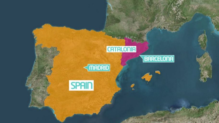 Map Of Spain And Catalonia.What Is Happening In Catalonia Cbbc Newsround