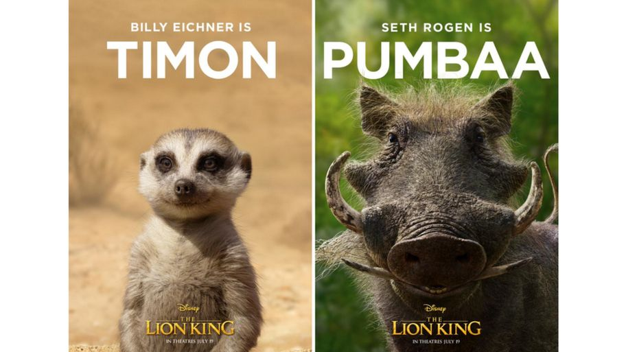 1892578c3a588 The Lion King: Disney reveal first character posters from film ...