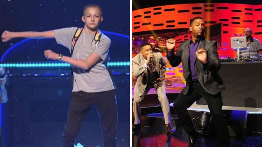 Backpack Kid aka Russell Horning performing Floss on Saturday Night live  and Alfonso Ribeiro on Graham 436a14252ed3a