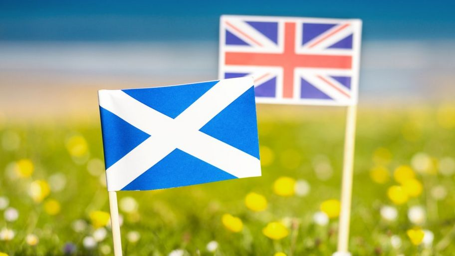could a second scottish independence referendum be on the cards  the scottish and the uk flag side by side