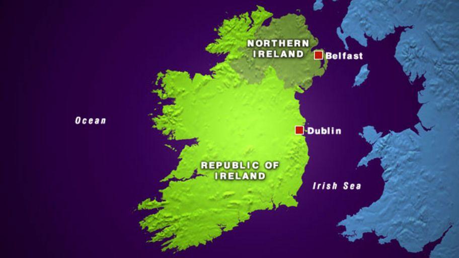 Republic Of Ireland And Northern Ireland Map.The History Of Northern Ireland Cbbc Newsround