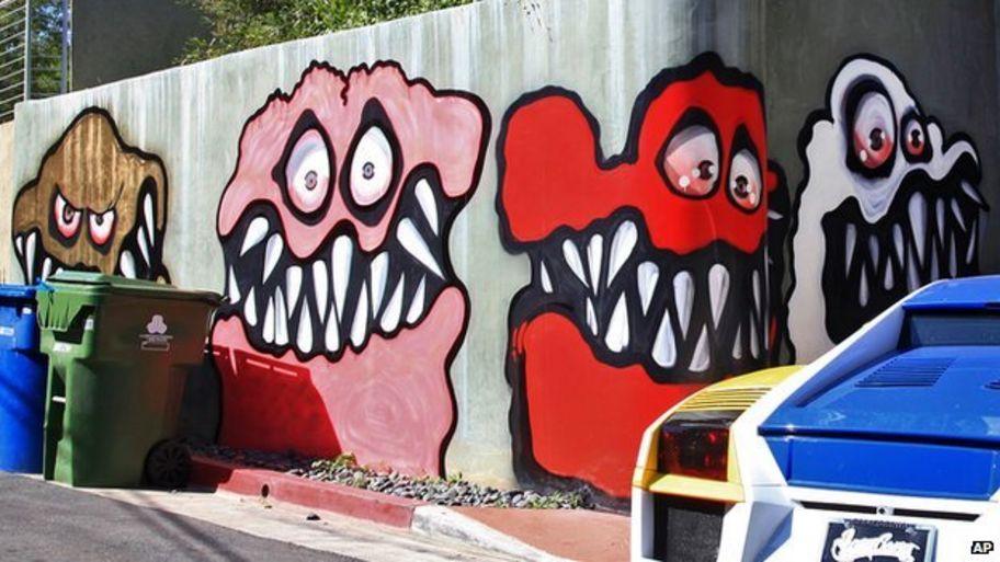 Chris Brown Monster Graffiti Scaring Local Children Cbbc Newsround