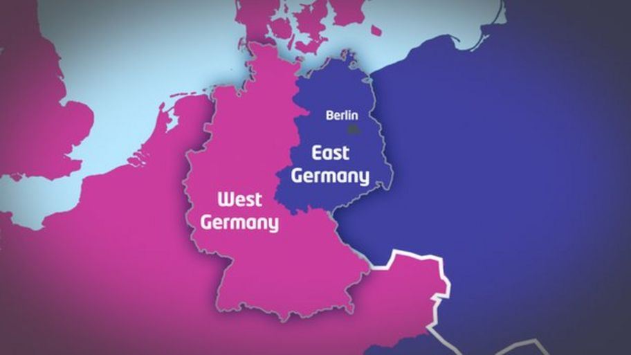 Map Of East Germany And West Germany.Guide What Was The Berlin Wall Cbbc Newsround