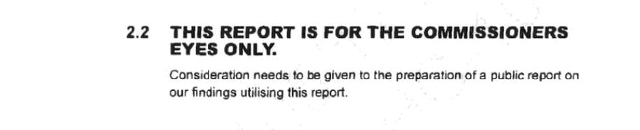 Excerpt from the Met's secret report