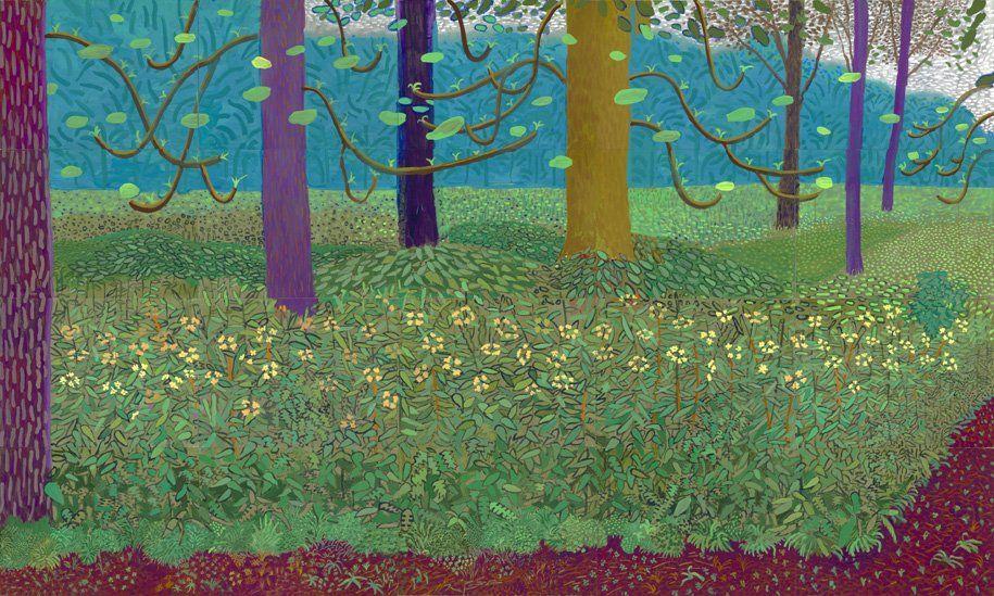 Under the Trees, Bigger 2010–11 by David Hockney