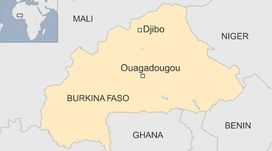 Map showing Djibo