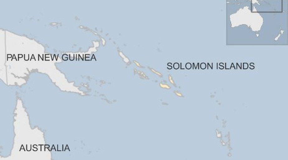 Map Solomon Islands