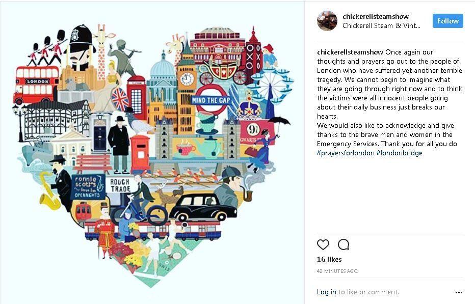 Heart shaped illustartion of London landmarks