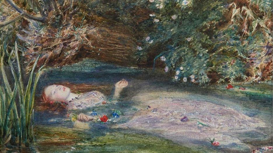 'Ophelia' (1851-2), de John Everett Millais