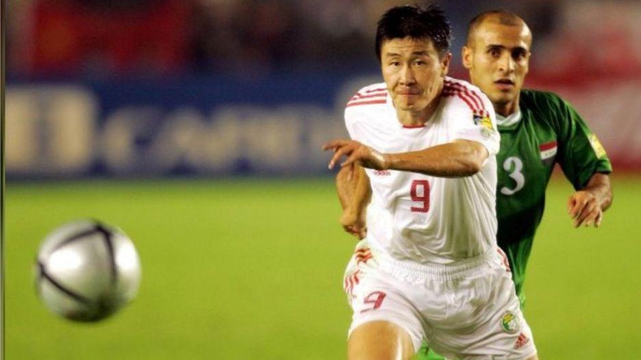 郝海东2004年在比赛中