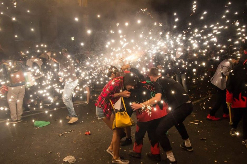 Firecrackers in the street