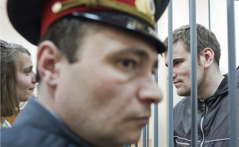 Анна Карпова и Алексей Гаскаров в суде