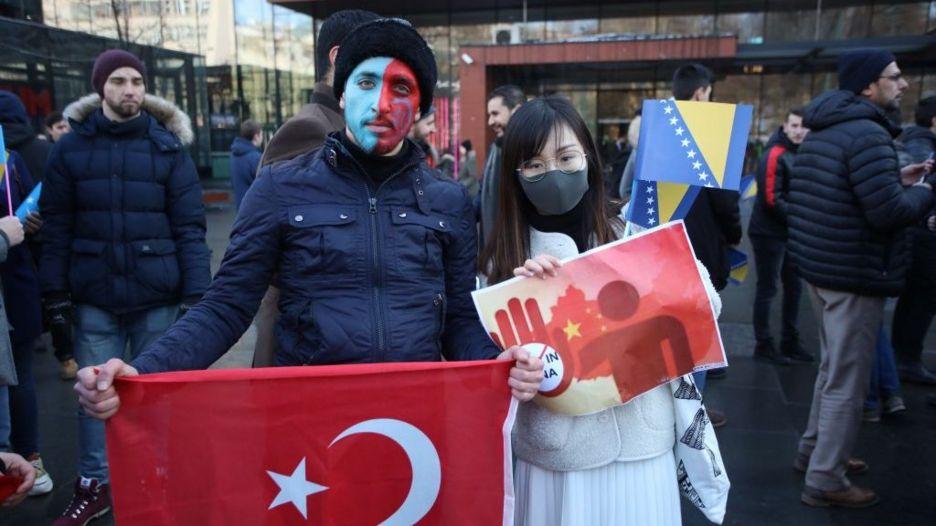 Một cuộc biểu tình phản đối việc Trung Quốc đàn áp người Duy Ngô Nhĩ