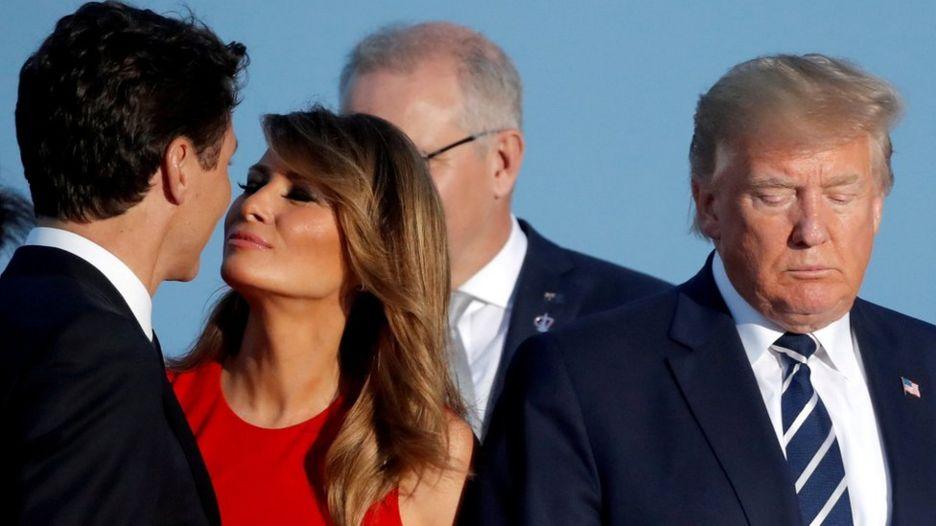 ترامپ و ملانیا و ترودو