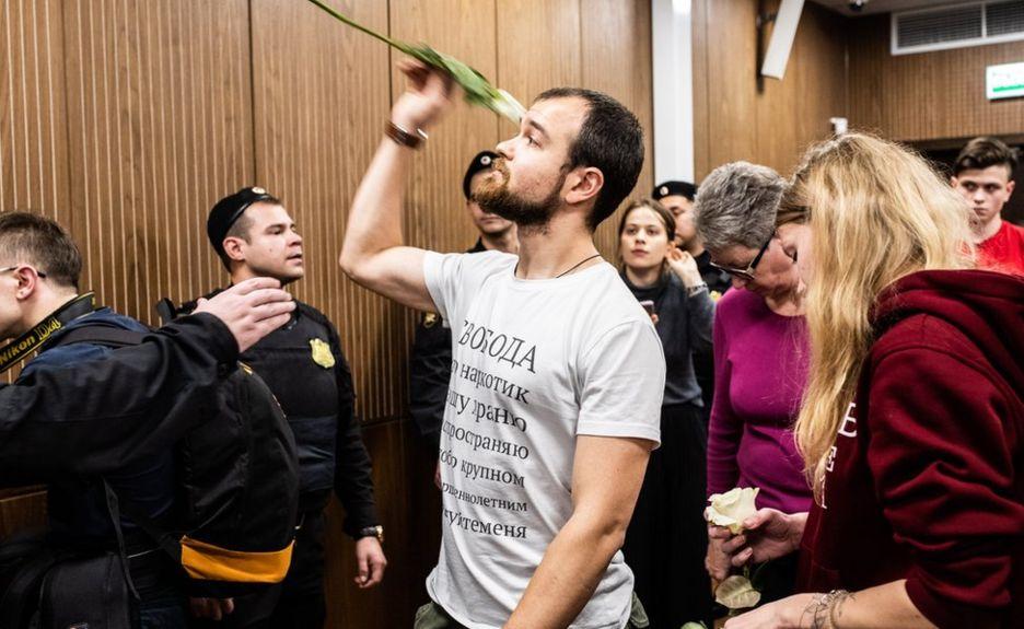 Во время приговора Егору Лесных