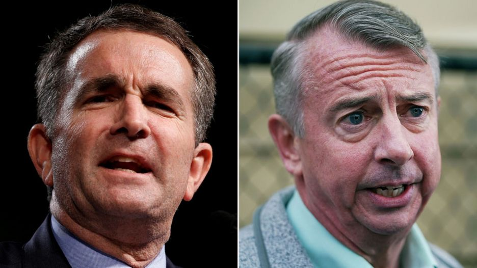 Ralph Northam (L) and Ed Gillespie