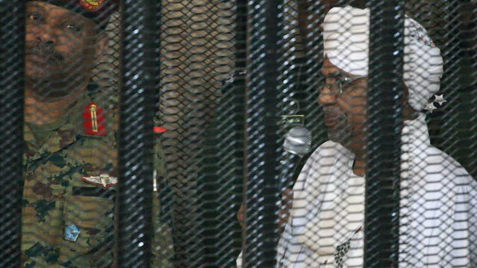 Omar al-Bashir in court on Monday