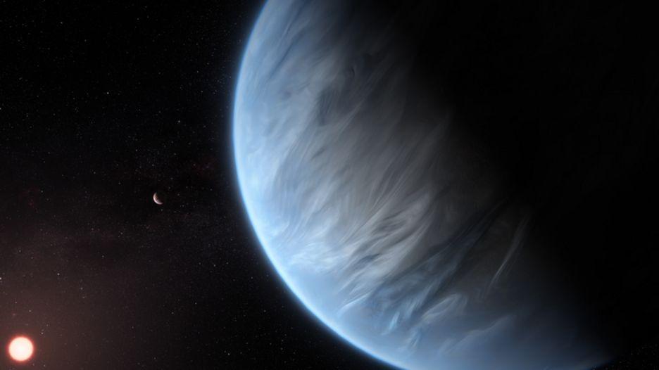 K2-18b, un planeta que podría tener agua.
