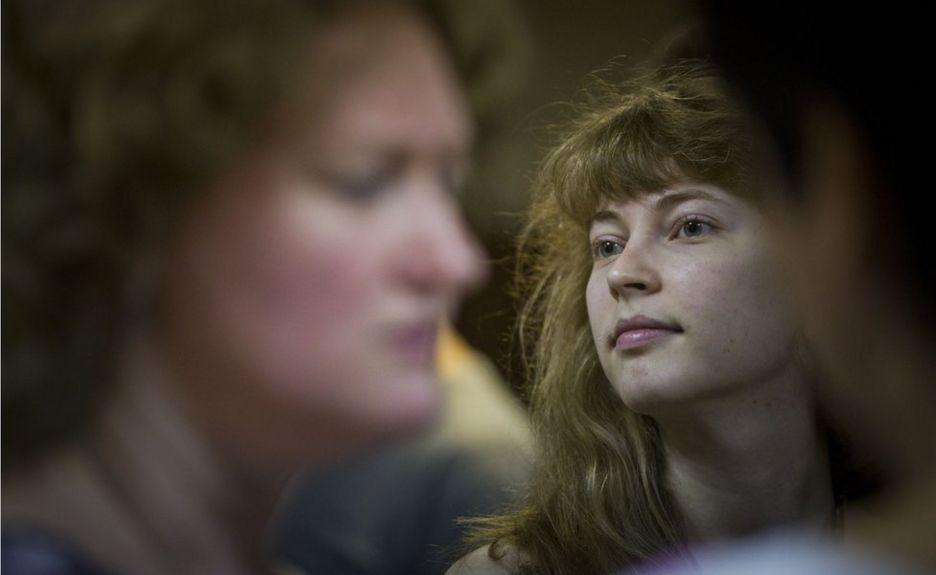 Таня в зале суда по болотному делу