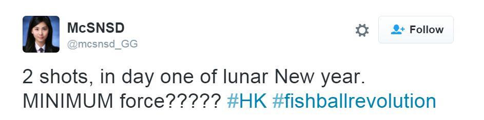 2 shots, in day one of lunar new year. MINIMUM FORCE????? #HK #fishballrevolution