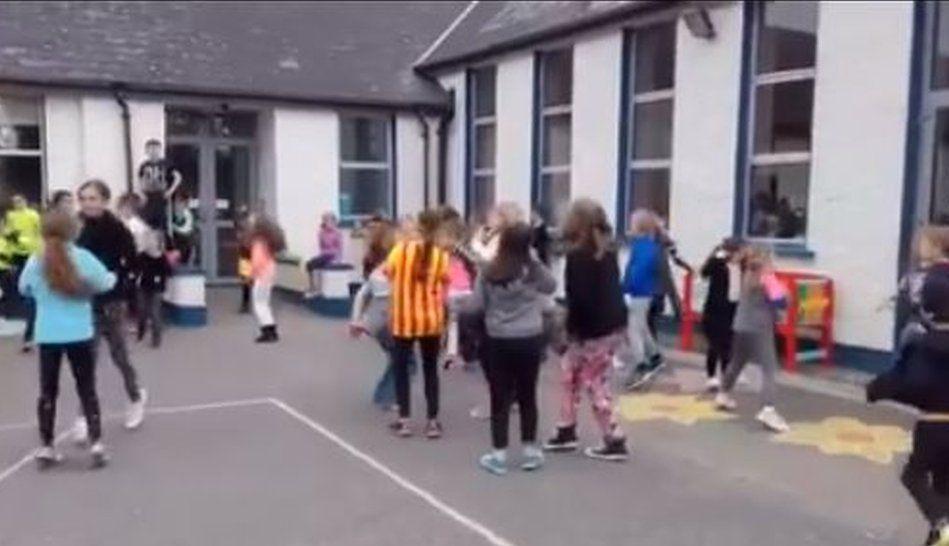 Pic of children dancing at school