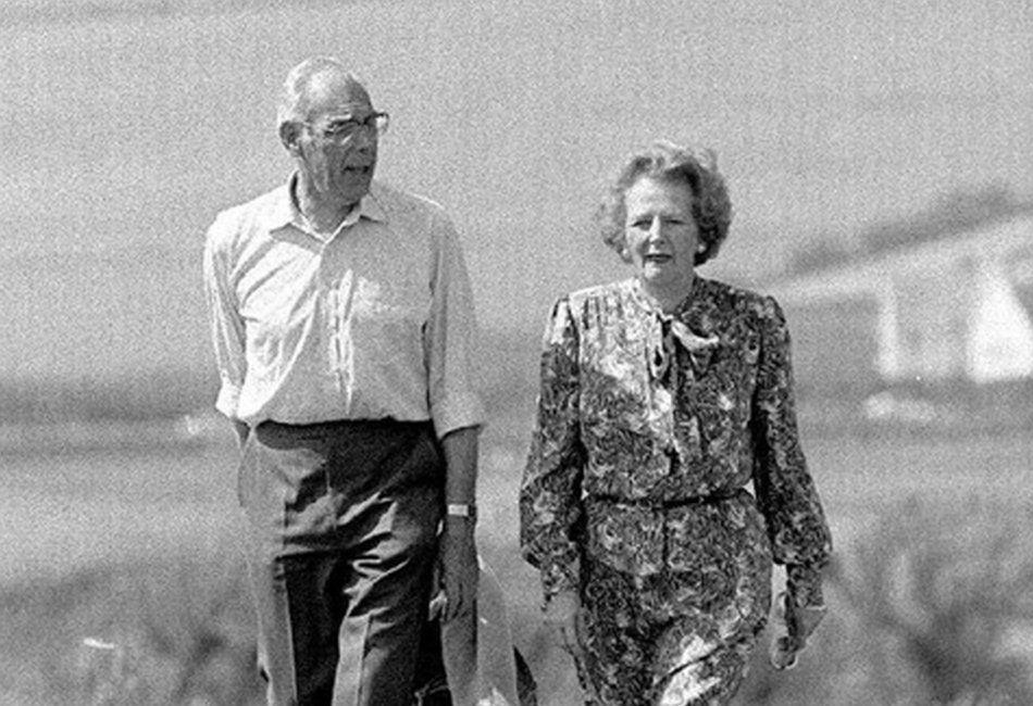 Margaret and Dennis Thatcher