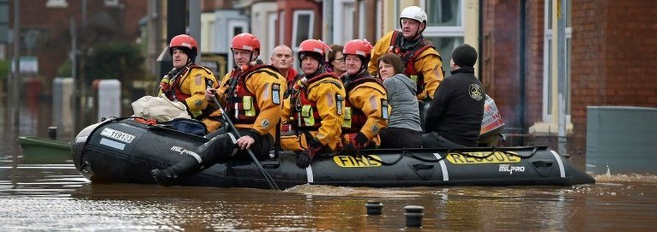 Rescue workers in Carlisle