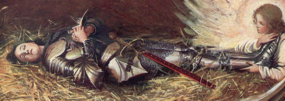 Painting of sleeping Joan of Arc