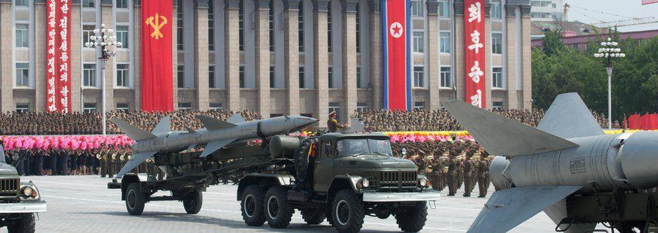 A North Korean military parade