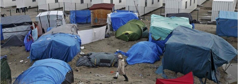 """The Jungle"" camp in Calais"