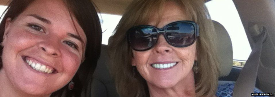 Kayla Mueller with her mother Marsha before she left for Syria